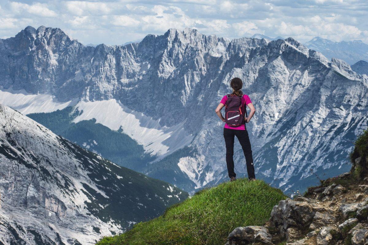 Ausblick im Naturpark Karwendel; Foto Stefan Elsler